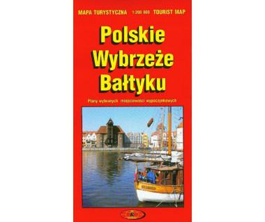 Polskie Wybrzeże Bałtyku mapa turystyczna
