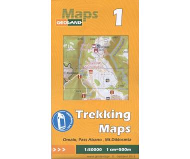 Gruzja mapa trekkingowa 1 (Omalo, Pass Abano, Mt.Diklosmta)