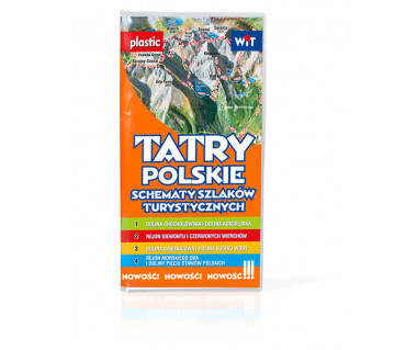 Tatry polskie schematy szlaków turystycznych (foliowane)