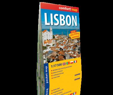 Lisbon/Lizbona plan laminowany kieszonkowy