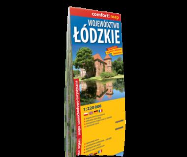 Województwo Łódzkie mapa laminowana