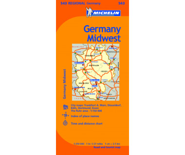 M 543 Germany Midwest - Mapa