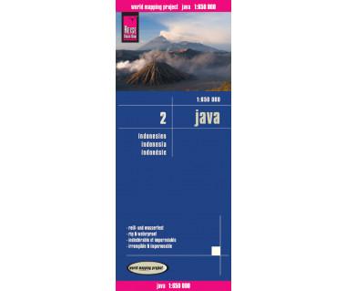 Java (Indonesia 2) - Mapa wodoodporna
