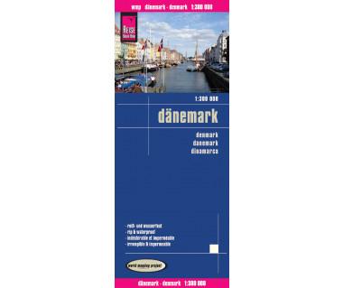 Danemark - Mapa wodoodporna
