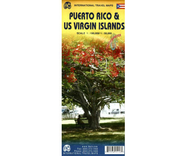 Puerto Rico & US Virgin Islands - Mapa wodoodporna
