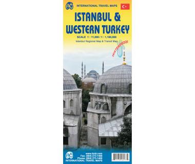 Istanbul & Northwest Turkey - Mapa wodoodporna