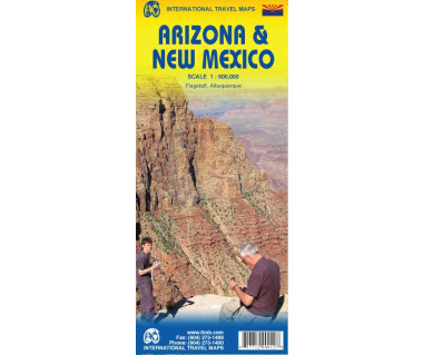 Arizona & New Mexico - Mapa