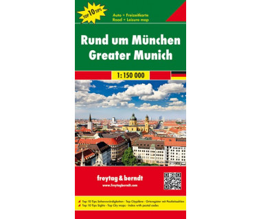 Rund um Munich (okolice Monachium) - Mapa