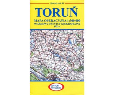 Toruń mapa operacyjna ark. 44 reedycja WIG 1933 r.