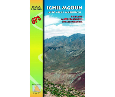 Ighil Mgoun (Alto Atlas) hiking map