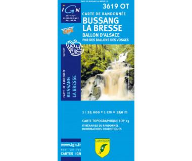 Bussang, La Bresse - Mapa turystyczna