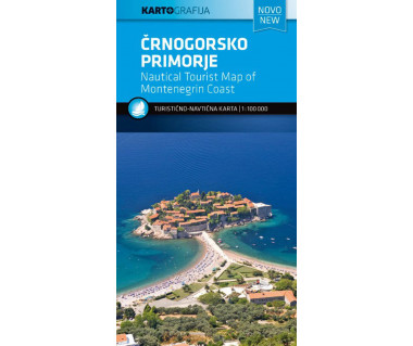 Crnogorsko primorje. Nautical Tourist Map of Montenegrin Coast