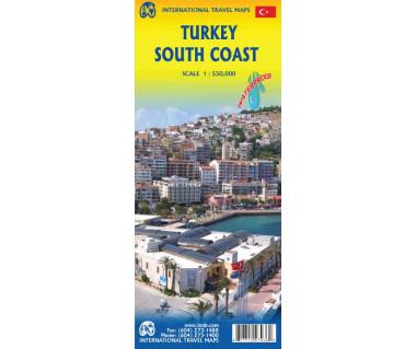 Turkey South Coast - Mapa wodoodporna