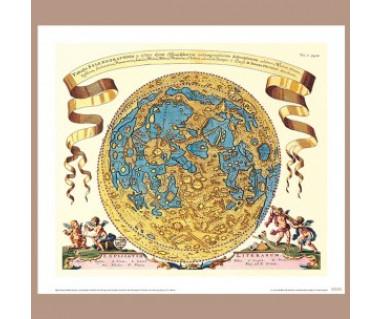 Widoczna hemisfera Księżyca wg Selenografii, 1647 r.