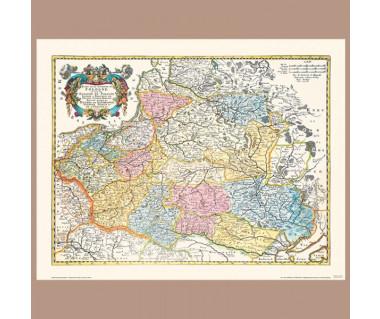 Ziemie Korony Polskiej N. Sanson, 1655
