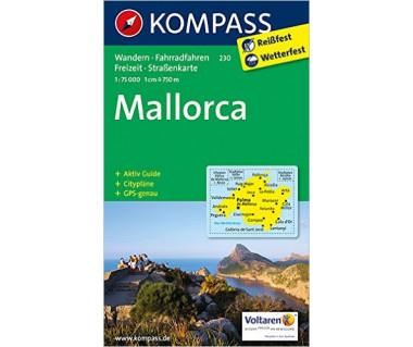 Mallorca (mit Cityplan Palma de Mallorca) - Mapa turystyczna laminowana