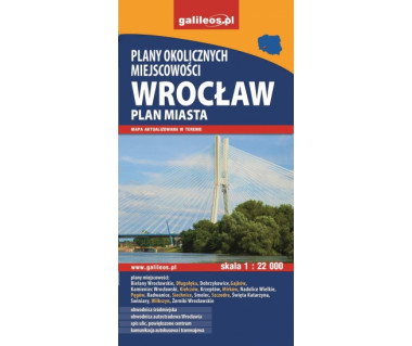 Wrocław plan miasta i okolicznych miejscowości