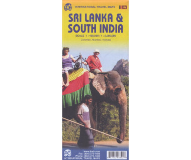 Sri Lanka & South India - Mapa