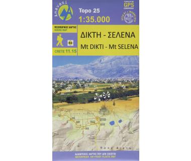 Crete 11.15 Mt Dikti - Mt Selena - Mapa wodoodporna