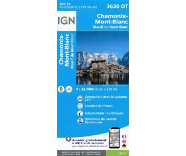 IGN 3630OT Chamonix, Massif du Mont Blanc