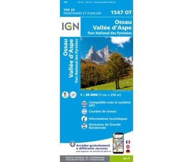 IGN 1547OT Ossau, Vallee d'Aspe