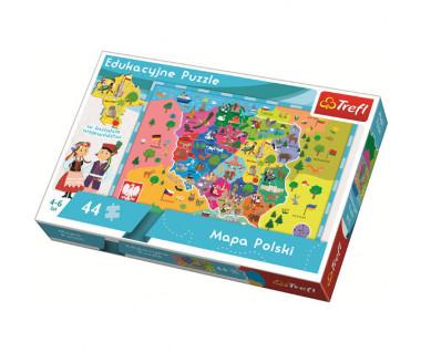 Puzzle 44 Mapa Polski