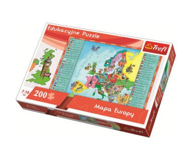 Puzzle 200 Mapa Europy