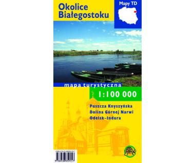 Okolice Białegostoku mapa turystyczna