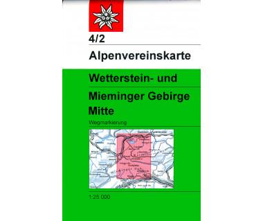 Wetterstein-und Mieminger Gebirge Mitte - Mapa turystyczna