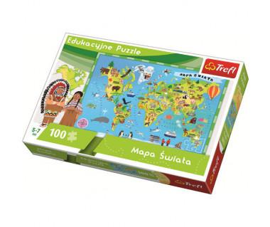 Puzzle 100 Mapa Świata