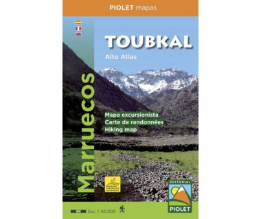 Toubkal (Alto Atlas) hiking map