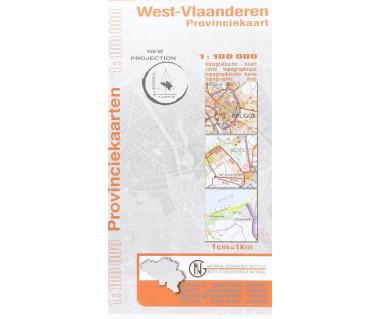 West-Vlaanderen Provinciekaart