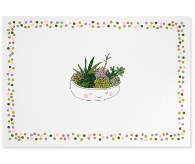 Kartka mini Succulent