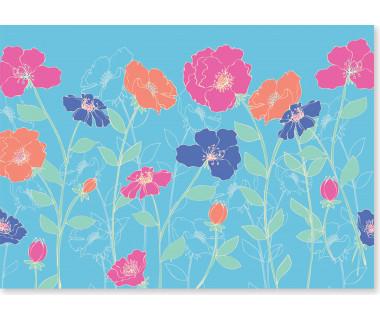 Kartka mini Poppies