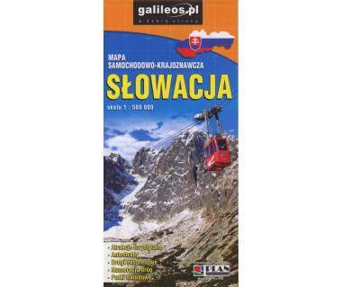 Słowacja mapa samochodowo-krajoznawcza