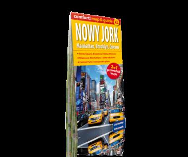 Nowy Jork Manhattan Brooklyn Queens 2 w 1 (mapa+przewodnik)