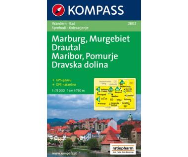 Maribor, Pomurje, Dravska dolina - Mapa