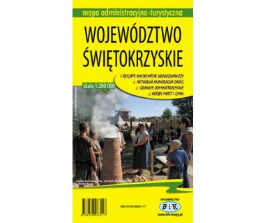 Województwo świętokrzyskie mapa administracyjno - turystyczna