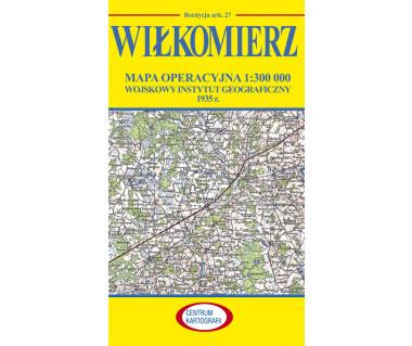 Wiłkomierz mapa operacyjna ark. 27 reedycja WIG 1935 r.