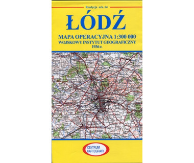 Łódź mapa operacyjna ark. 64 reedycja WIG 1936 r.