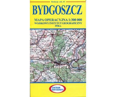 Bydgoszcz mapa operacyjna ark. 43 reedycja WIG 1936 r.