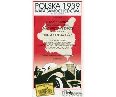 Polska 1939 mapa samochodowa (reedycja)