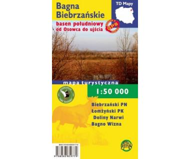 Bagna Biebrzańskie basen południowy od Osowca do ujścia mapa foliowana