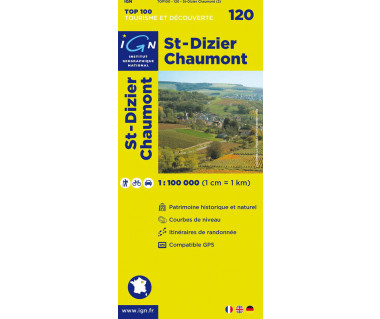 St-Dizier, Chaumont - Mapa