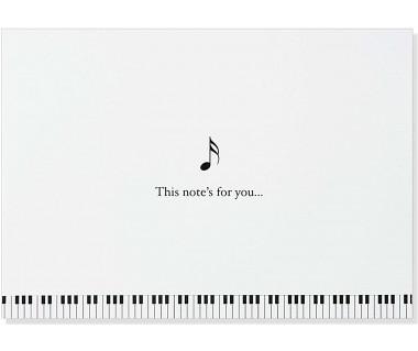 Kartka mini Music