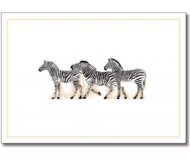 Kartka mini Zebras