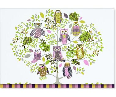 Kartka mini Owl Forest