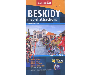Beskidy map of attractions