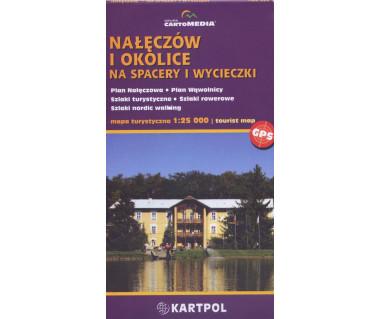 Nałęczów i okolice na spacery i wycieczki - Mapa