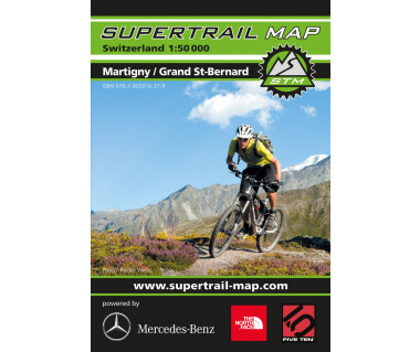 Martigny, Grand St-Barnard Supertrail Map